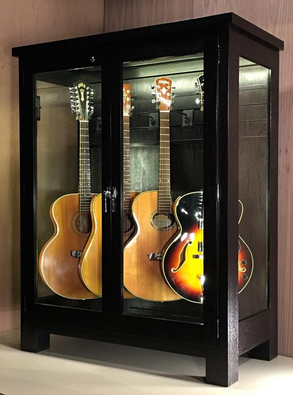 Access N Sight Guitar Display Case, Guitar Storage Cabinet